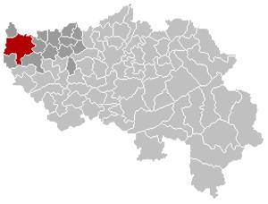 Hannut - Image: Hannut Liège Belgium Map