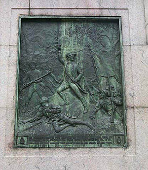 New York and New Jersey campaign - A plaque commemorating the Battle of Harlem Heights on the Math Building at Columbia University