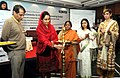 Harsimrat Kaur Badal lighting the lamp at the National Conference on Spurring, Financing & Investments in the Food Processing Sector, in New Delhi. The Union Minister for Railways, Shri Suresh Prabhakar Prabhu.jpg