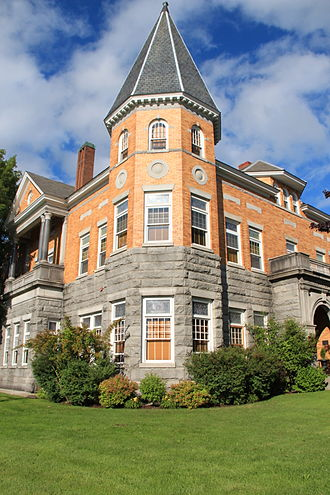 Collins–Valentine line - The Haskell Free Library and Opera House is the most well-known among buildings that straddle the border.