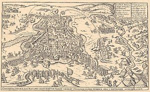 Long Turkish War - The Habsburg troops broke into the Hatvan castle in 1596