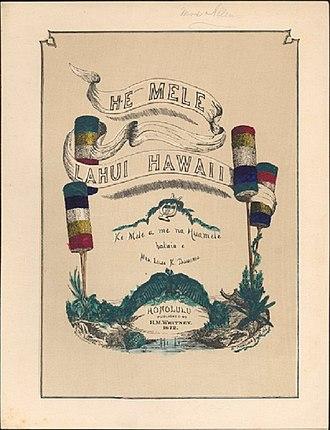He Mele Lahui Hawaii - Image: He Mele Lahui Hawaii