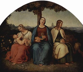 Heinrich Maria von Hess - Faith, Love, Hope (1819)