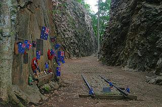 Hellfire Pass War memorial in Thailand