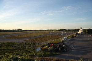 Helsinki-Malmi Airport - Runway 36 in the evening sun.