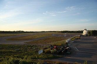 Helsinki-Malmi Airport - Runway 36 in the evening sun.