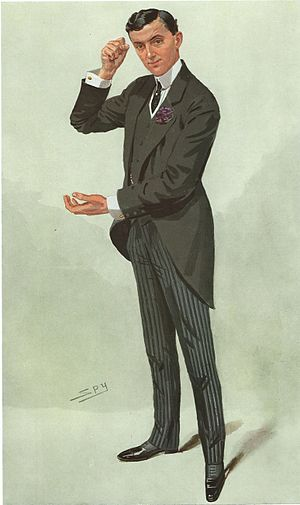 "Edward Hemmerde - As depicted by ""Spy"" (Leslie Ward) in Vanity Fair, 19 May 1909"