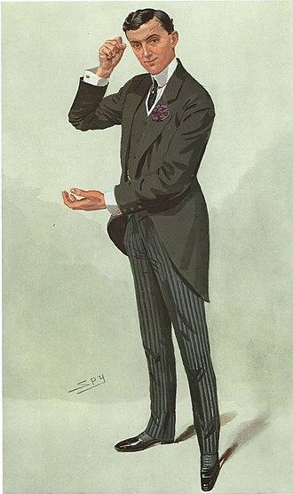 """Edward Hemmerde - As depicted by """"Spy"""" (Leslie Ward) in Vanity Fair, 19 May 1909"""