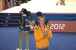 Henk Grol with his bronze medal at the 2012 summer Olympics.JPG