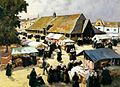 Henri Barnoin Jour de marché au Faouët.jpg