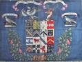 HeraldicBanner WilliamArundellHarris 1817 Trerice Cornwall.PNG
