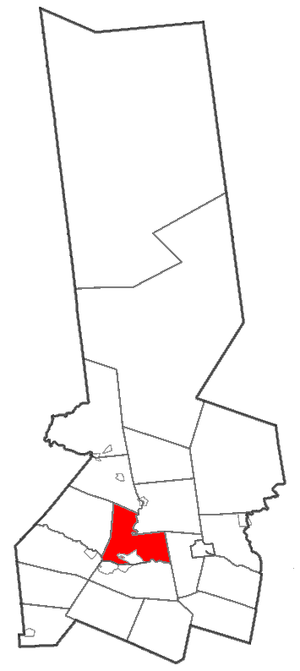 Herkimer (town), New York - Location of Herkimer within Herkimer County