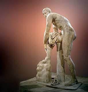 Hermes Fastening his Sandal