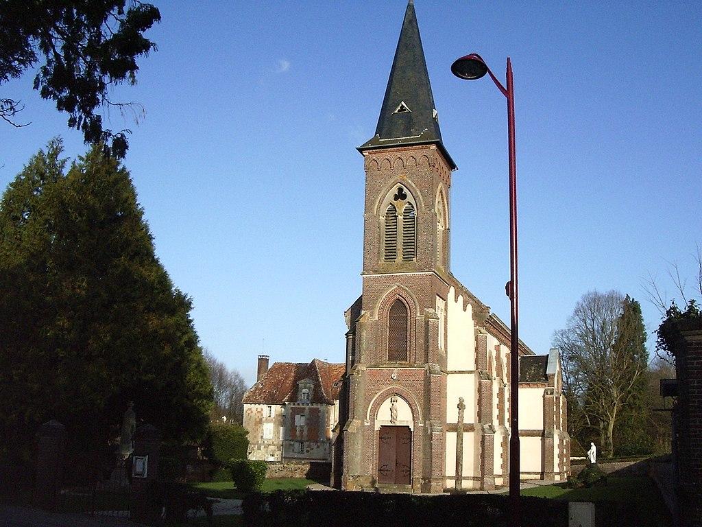 Hermival Eglise Chateau 1.JPG