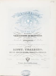 <i>Hexameron</i> (musical composition) collaborative musical composition pub. 1839