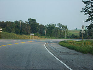 Ontario Highway 35 - Highway 35 near Fenelon Falls