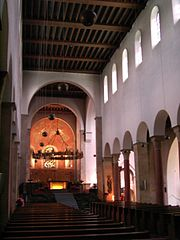 St. Michael's, Hildesheim has alternating piers and columns.