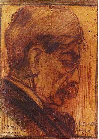 "Nikolaos Himonas - Nikolaos Himonas (1920).  Drawing by ""V. Marzhuvanov(a)"""