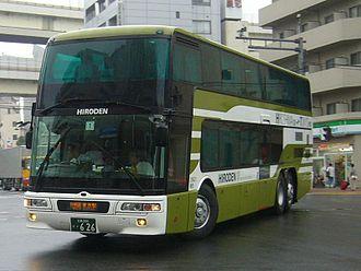 Mitsubishi Fuso Aero King - Image: Hiroden Bus 626