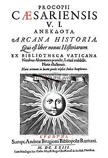 Page d'un ouvrage écrit en latin, un dessin de soleil est présent au centre