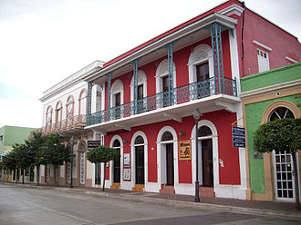 Cabo Rojo, Puerto Rico - Historics buildings at Ruiz Belvis St.