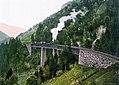 Hoellentalbahn ravennaschlucht um 1900.jpg