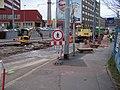 Holešovice, Partyzánská, rekonstrukce tramvajové trati.jpg