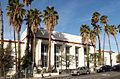 Hollywood, California, post office building, with palm trees, 2015.jpg