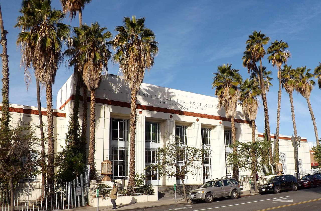 File Hollywood California Post Office Building With