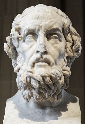 Classics - Bust of Homer, the ancient Greek epic poet