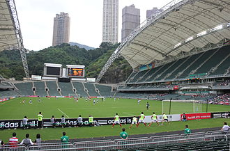 Hong Kong Stadium - Hong Kong Stadium as seen from Tai Hang Road