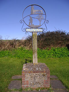 Honing, Norfolk Human settlement in England