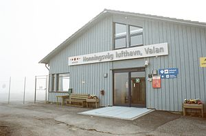Honningsvåg Airport, Valan - The terminal