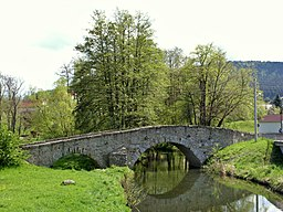 """Die """"Böhmische Brücke"""" in Obergurig."""