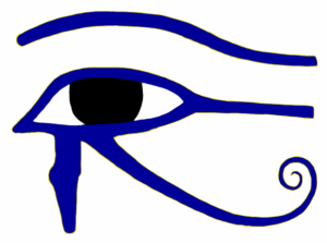 English: The Eye of Horus, done in photoshop