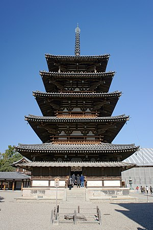 Pokémon Gold and Silver - The older architectures (pictured is Hōryū-ji in Nara Prefecture) of Japan's Kansai and Tōkai regions inspired the setting of the Johto Region.