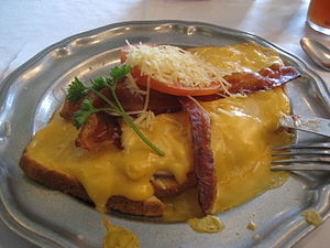 Hot Brown sandwich from Kurtz Restaurant, Bard...