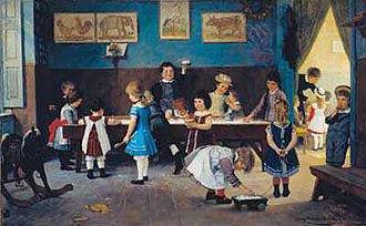 Borsdorf - Image: Hugo Oehmichen Im Kindergarten