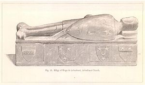 Hugo de Arbuthnot - effigy in Arbuthnot parish...
