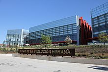 Front of the Museum of Human Evolution