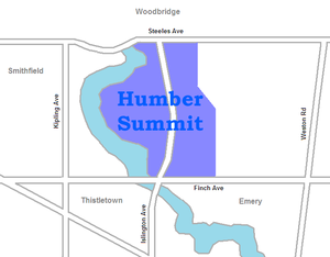 Humber Summit - Image: Humber Summit map