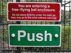 A humorous notice in the Bat Enclosure, Bristo...