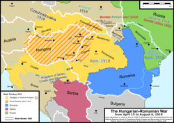 territorial changes in the war between hungary and romania