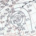 Hurricane Janice surface analysis October 8 1958.jpg