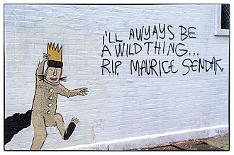 Maurice Sendak - A mural alludes to Sendak's passing.