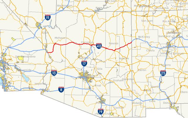 FileI AZ Mappng Wikimedia Commons - Us i 40 map