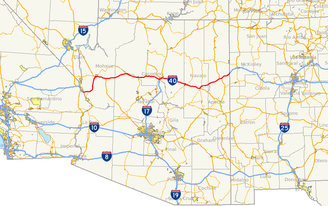 Map Of Arizona I40.File I 40 Az Map Png Wikimedia Commons