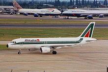 I-BIKE A320-214 Alitalia LHR 30JUN99 (5863236957).jpg