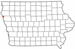 Location of Sioux City in Iowa