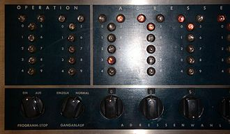 IBM 650 - Close-up of bi-quinary indicators